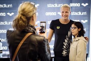 """Sarah Sjöström är en av flera stjärnor som kommer att medverka i Stadiums kampanj  """"Fill the Stadium"""". Foto: Erik Simander / TT"""