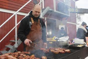 After-ski med tillhörande grill fanns också på programmet.