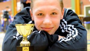 MÄSTARE. Albin Olofsson vann match efter match - och stod till slut som segrare.