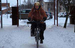 Kent Vikström, 65 år från Falun, föredrar cykeln framför bilen.