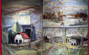 Bilderna från Larsbo bruk står för ett måleri med mycket nerv och känsla. Foto: Staffan Björklund