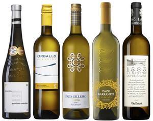 Goda viner på den iberiska albariñodruvan i Systemets sortiment.