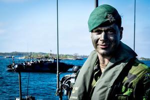 Stridsledningsgruppchefen Isak Wallin och hans förband kommer att delta i den stora militärövningen i september.