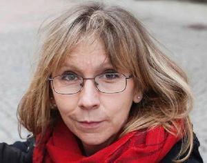 ÖP:s tecknare Ulla Granqvist, 2014 års Guldmedaljör.