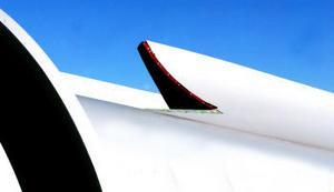 En liten detalj av en stor vinge.