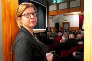 Therese Zetterman (S) som 1 januari tillträder som kommunalråd och kommunstyrelsens ordförande i Bergs kommun var med vid mötet.
