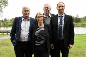 Några av deltagarna under Inlandstinget i Mora: Ingvar Persson, Karin Malmfjord, Per-Anders Westhed och Peter Ekholm.
