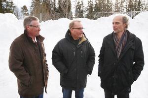 Yrangänget är mest positiv till Sundsvallsflytten.– I längden så tjänar vi på det här, säger Lars Hult, Lars Sillrén och Stefan Kauppi.