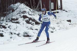 Anna Wikström, Mora Bitathlon, tog brons i söndagens distanslopp.