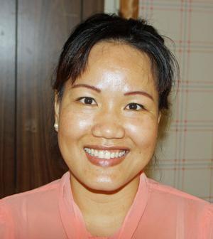 Phinthipha, ordförande för buddistiska föreningen i Sandviken.
