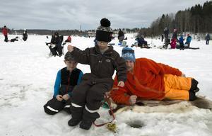 William Lindgren, 6 år, och Alfred Åström, 5 år, från Bergeforsen och Ribodarna.