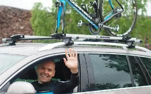 Nu startar Håkan Edvardsson sin resa, som DD även tidigare berättat om. Han ser 40-årskrisen som en möjlighet och vill uppfylla sin dröm att cykla Tour de France-sträckan. Via dalademokraten.se går det att följa hans blogg. FOTO: MATTIAS GÖTHBERG