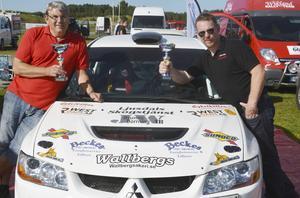 Patrik Åkerman och Lasse Grip vann Rally Norduppland och toppar Nedre Norras förbundsmästerskap.