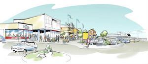 Framtidens centrum? Så här vill de som skrivit medborgarförslag om Ljusdals centrum se Norra Järnvägsgatan från Coop bort mot Järnvägshotellet.