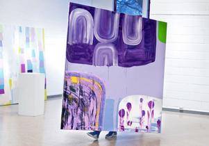 Cloudy day, olja på duk av Niklas Mulari. Ett verk som också pryder affischen till utställningen.