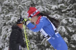 Helene Söderlund höll undan till seger i Morapinglan under söndagens jaktstart.
