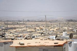 Flyktingläger i Jordanien.