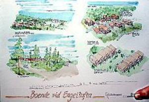 Kontroversiellt. Förhoppningarna om att bygga ett 100-tal bostäder vid Engeltofta riskerar att grusas på grund av höga natur- och kulturhistoriska värden i området. Skissen visar det förslag Riksbyggen tog fram för två år sedan. Då handlade det om att bygga ett 20-tal nya bostäder.