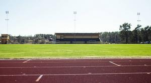 Här, framför läktaren på Älvvallens a-plan, kommer fotbollsplanen uppkallas efter Erik Hamrén.