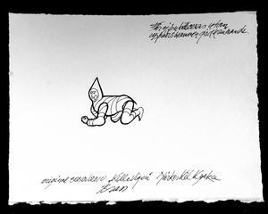 Förslag. Så här skulle Tysslinges nya logga kunna se ut. Det är konstnären Henk Brass som gjort teckningen.ILLUSTRATION: HENK BRASS