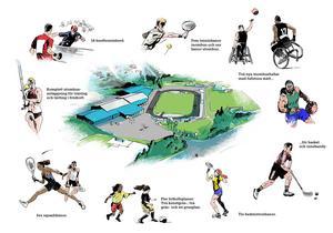 Så här kan den stora idrottsanläggningen komma att se ut.
