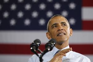 Tre år till. President Obamas sista mandatperiod går ut om tre år. Nu utmanar han de politiska motståndarna i kongressen. Foto: Charles Dharapak/AP/TT