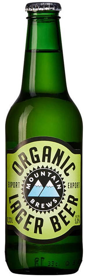 Mountain Brews Organic Lager.