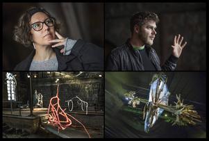 Helene Hortlund och Jakub Nepras visar skulpturer, respektive videoskulpturer.
