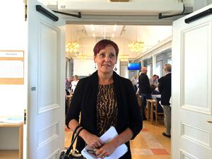 Jeannette Sehlberg, vårdvalschef i landstinget, följde debatten på plats.