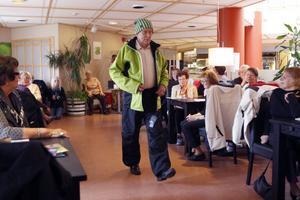 Hans Thunström i knallgrönt. Passade fint!