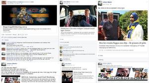 Sprider länkar. Lokalpolitikern Urban Medin (SD) delar information av antisemitisk karaktär via Facebook.