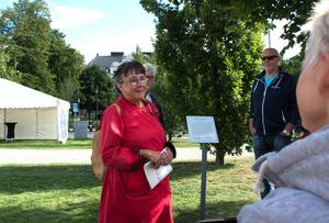 Elisabet Finné vid Esplanaden, där