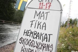 Här är skylten som gör jobbet besvärligt på  miljökontoret i Mora och Orsa.