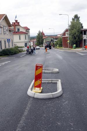 Korsningen Bjuråkersvägen - Ringvägen blir betydligt trafiksäkrare.