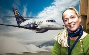 Direktflygs vd, Tezz Tordsdotter-Ohlsson, hoppas att Svensk Pilotförening accepterar bolagets bud om att piloterna ska gå ner till 75 procents arbetstid i besparingssyfte. Foto: Mikael Forslund