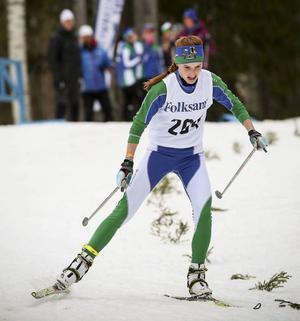 Den tekniskt krävande teknikbanan passade bra för Johanna Albertsson, som tog en fin sjundeplats i D16.