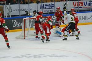 Christian Engstrand i Moramålet hade en jobbig kväll i Smidjegrav Arena.