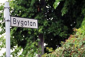 Här vid Norra torget i Edsbyn börjar promenaden efter Bygatan.