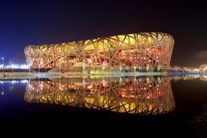 Fågelboet, Pekings nationalstadion före ...Foto: WWF Kina