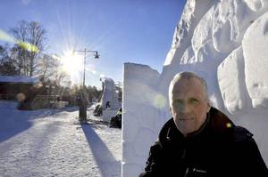 Håkan Åvall tror att den tunna isen inte kommer att vara ett problem då mycket annat finns att göra innan man kan ploga upp Medvinden.