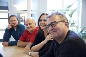 Teamet bakom Carmen: Producent Andreas Lönnqvist, sångare Göran Eliasson, solist Pers Anna Larsson och regissör Ulrilk Qvale