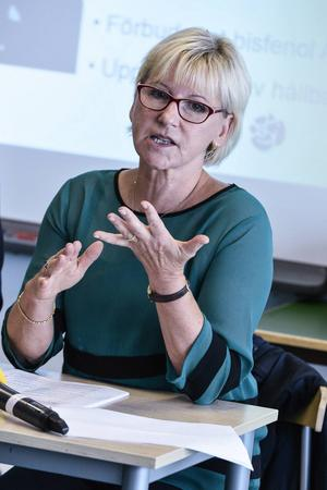 Utrikesminister Margot Wallström (S)   Ingen vet vad hon tycker men Wallström har kompetensen som krävs.