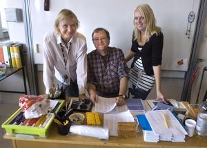 Mentorerna Yvonne Mattsson, Torbjörn Alsing och Linda Larsson ser framemot höstterminen.