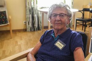 Karin Engström startade Bäckedal med sin man. Hon var nu äldst på plats med sina 98 år.