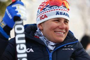 Ida Ingemarsdotter var tvåa och övertygade när hon åkte jämnt med Charlotte Kalla under loppets sista tredjedel.