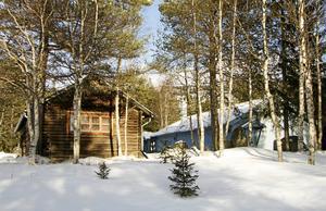 Från 1997 var Elliseum i Funäsdalen centrum för makarna Bengt och Gunilla Ellis skapande. Ateljéer till vänster och visningsrum till höger.