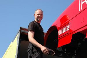 Ulf Leanders, Alfta, blev historisk genom att sätta det första Europarekordet på den nya banan i Tierp.