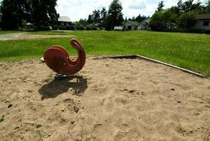 Öde lekpark. En uppgradering av den populära lekparken i Paradiset är något som skulle uppskattas av de boende i området.