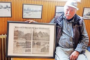 Johan har rustat upp stationshuset och bland annat letat rätt på gamla foton och tidningsartiklar. Lennart Mattssons artikel om Röjan som skrevs för drygt 20 år sedan är förstås lite speciell.