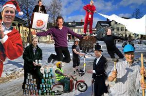 Ett fotomontage med ett urval av bilder på Abbe Ronsten från arkivet. Nu lämnar han kommunalrådsposten i Säter för att bli ordförande för Region Dalarna.